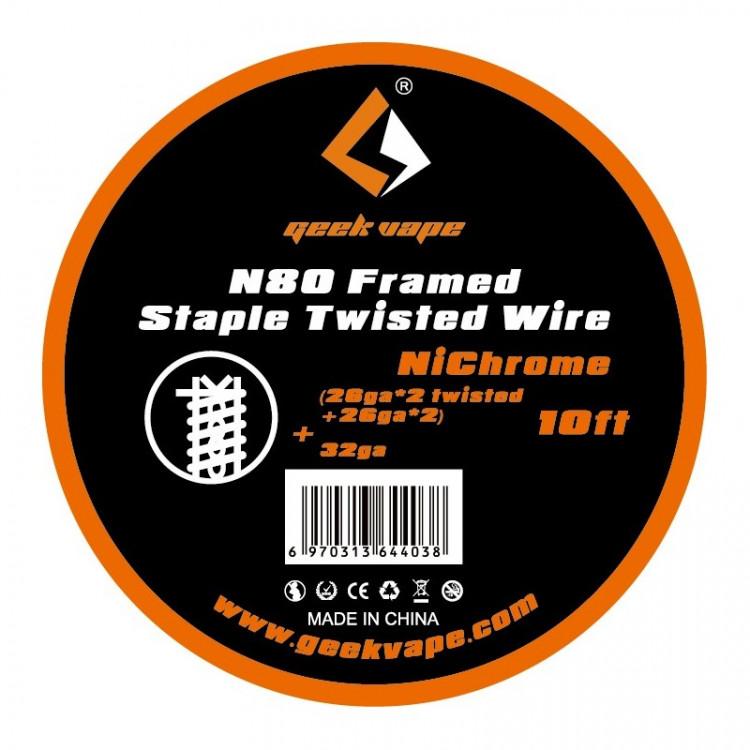 N80 framed staple twisted wire Geekvape